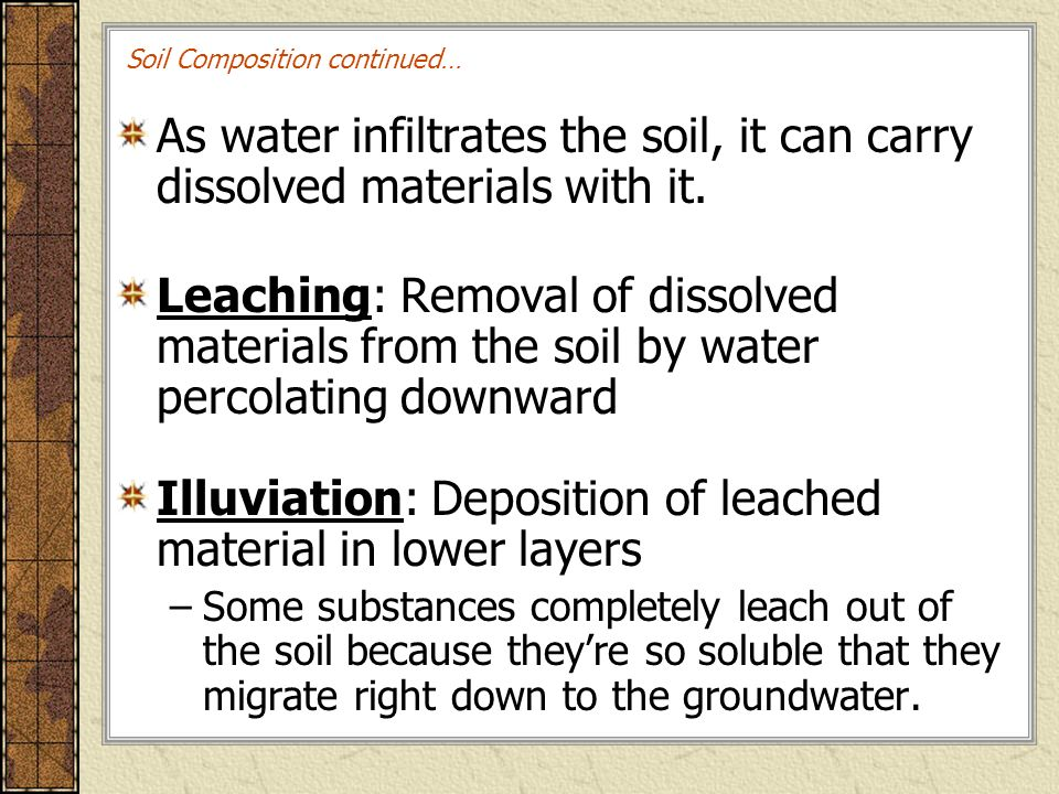 Land then is not merely soil it is a fountain of for Soil composition definition