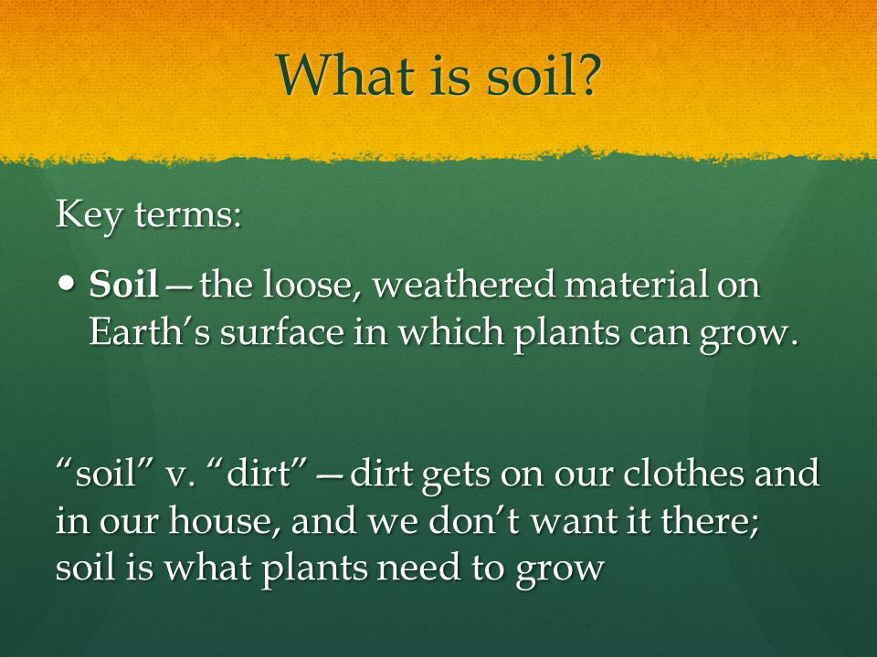 Soil an essential natural resource ppt download for What is soil