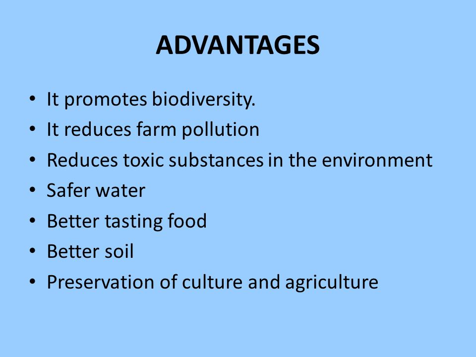 Advantages Of Organic Food For The Environment