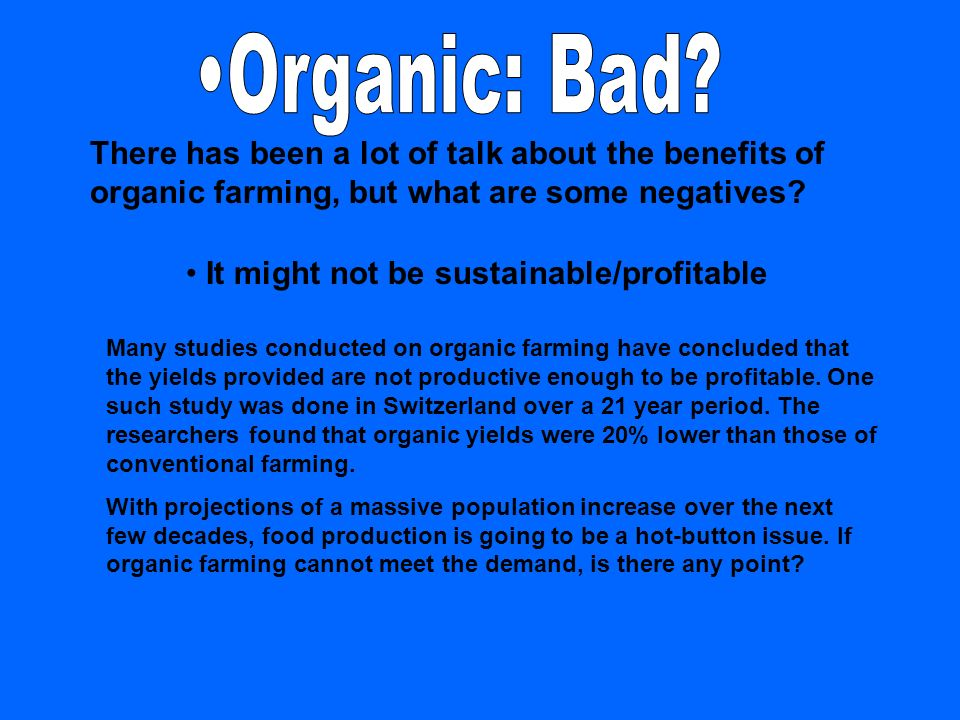 organic food benefits and disadvantages pdf