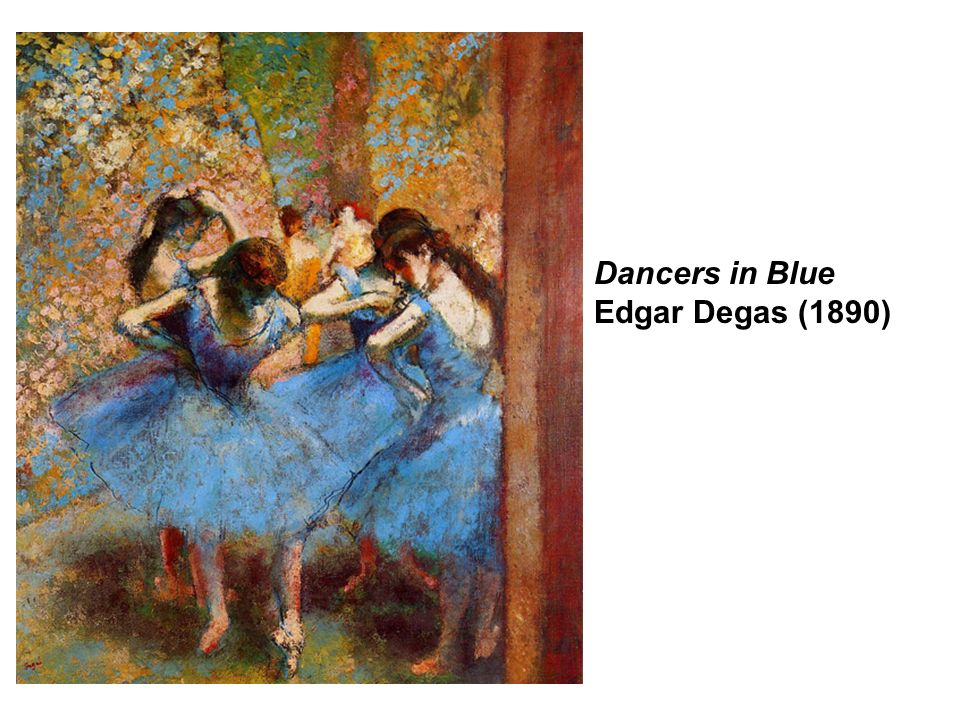 Dancers in Blue Edgar Degas (1890)