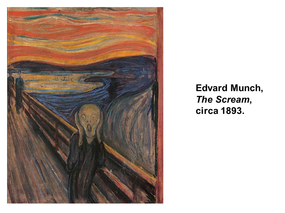 Edvard Munch, The Scream, circa 1893.