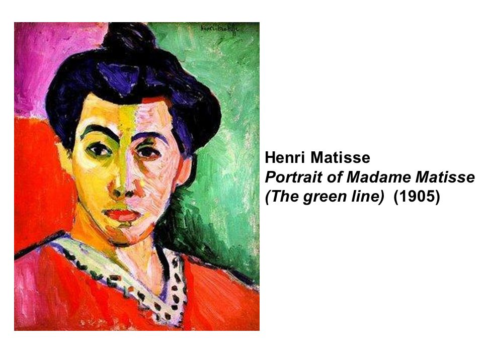 Henri Matisse Portrait of Madame Matisse (The green line) (1905)