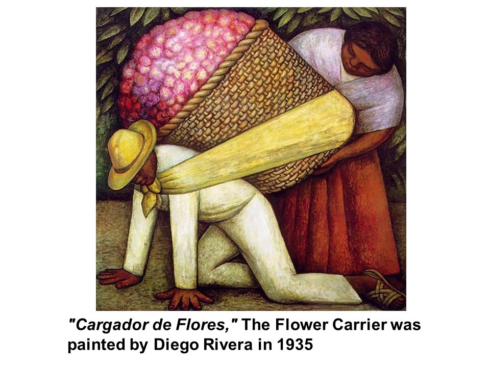 Cargador de Flores, The Flower Carrier was painted by Diego Rivera in 1935