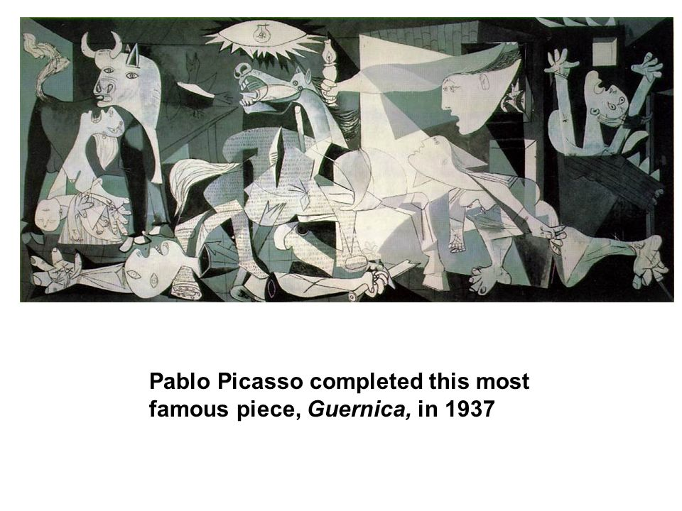 Pablo Picasso completed this most famous piece, Guernica, in 1937