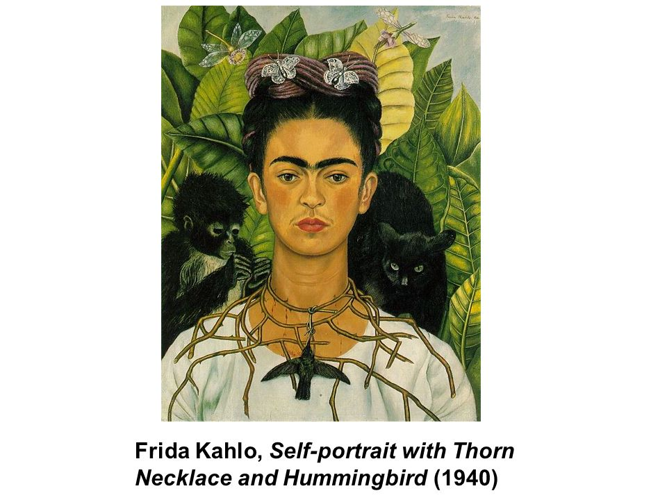 Frida Kahlo, Self-portrait with Thorn Necklace and Hummingbird (1940)