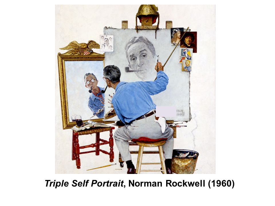 Triple Self Portrait, Norman Rockwell (1960)