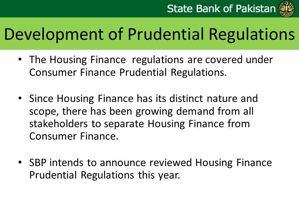 Development of Prudential Regulations