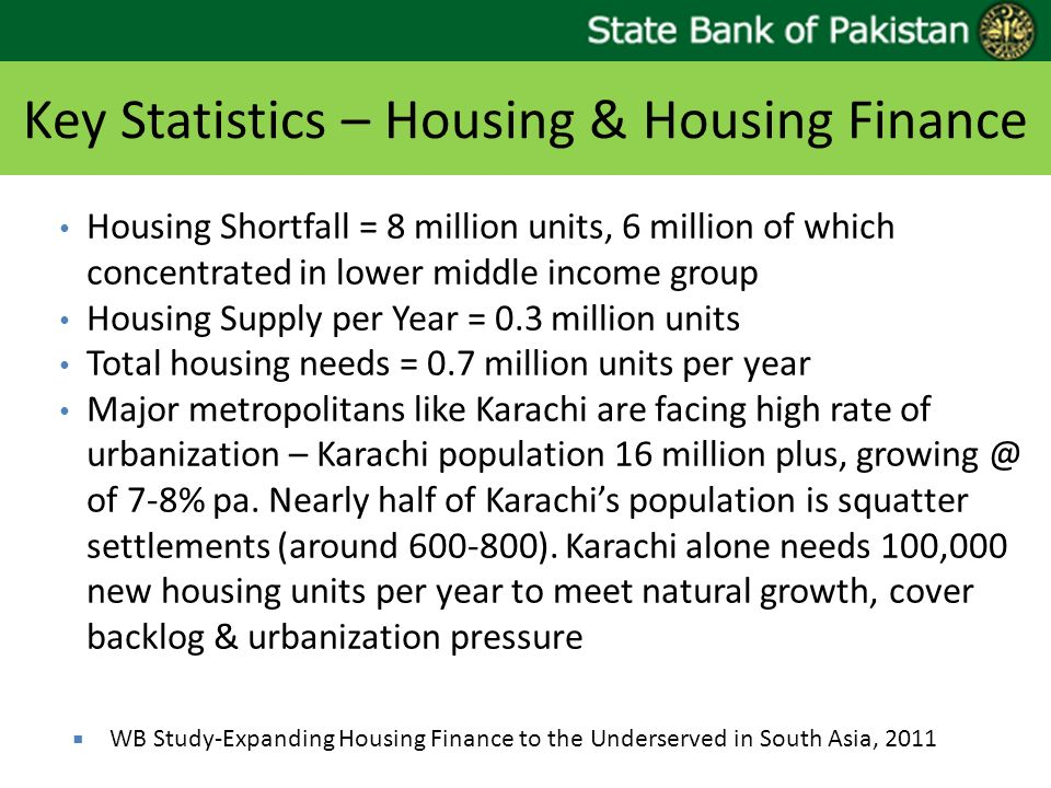 Key Statistics – Housing & Housing Finance
