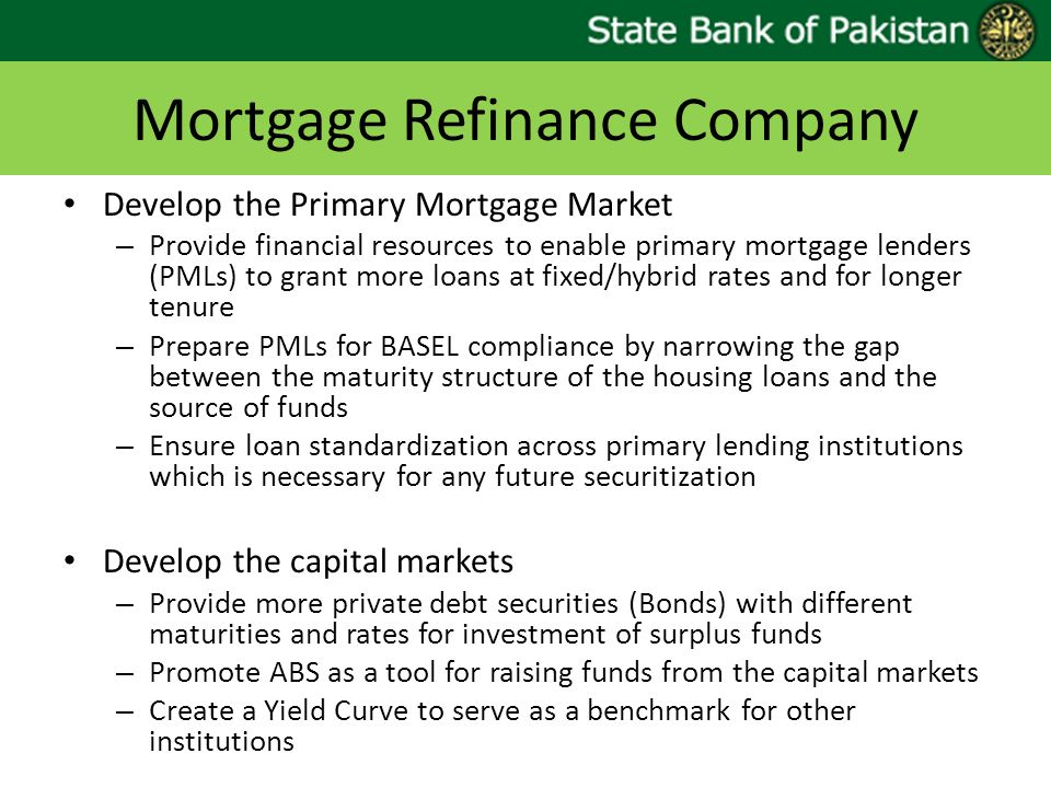 Mortgage Refinance Company