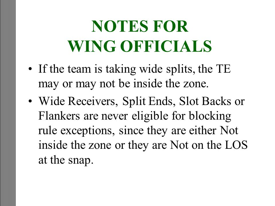 NOTES FOR WING OFFICIALS