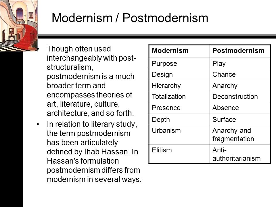 relationship between post structuralism and postmodernism religion