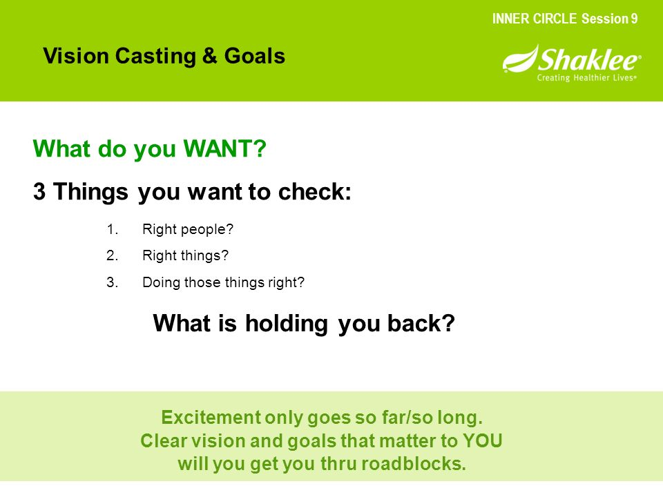 3 Things you want to check: