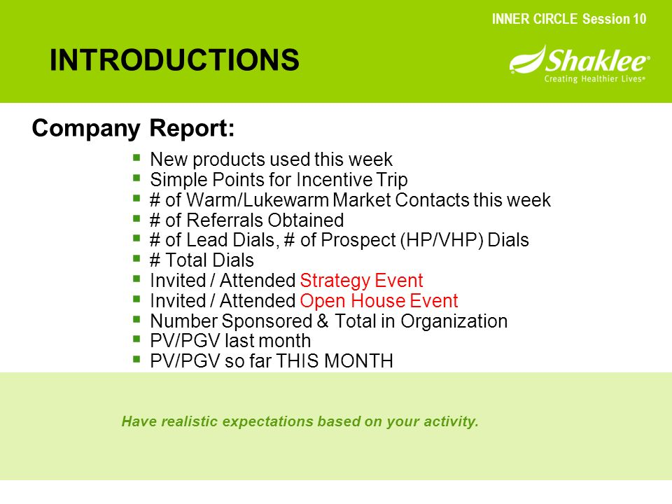 INTRODUCTIONS Company Report: New products used this week