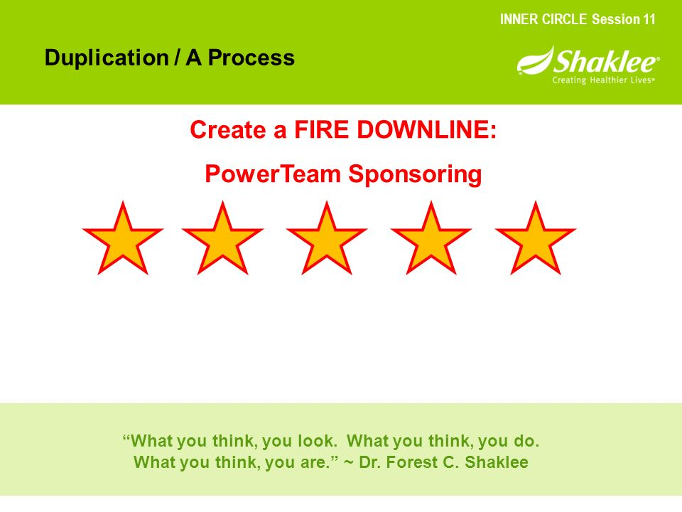 Create a FIRE DOWNLINE: PowerTeam Sponsoring