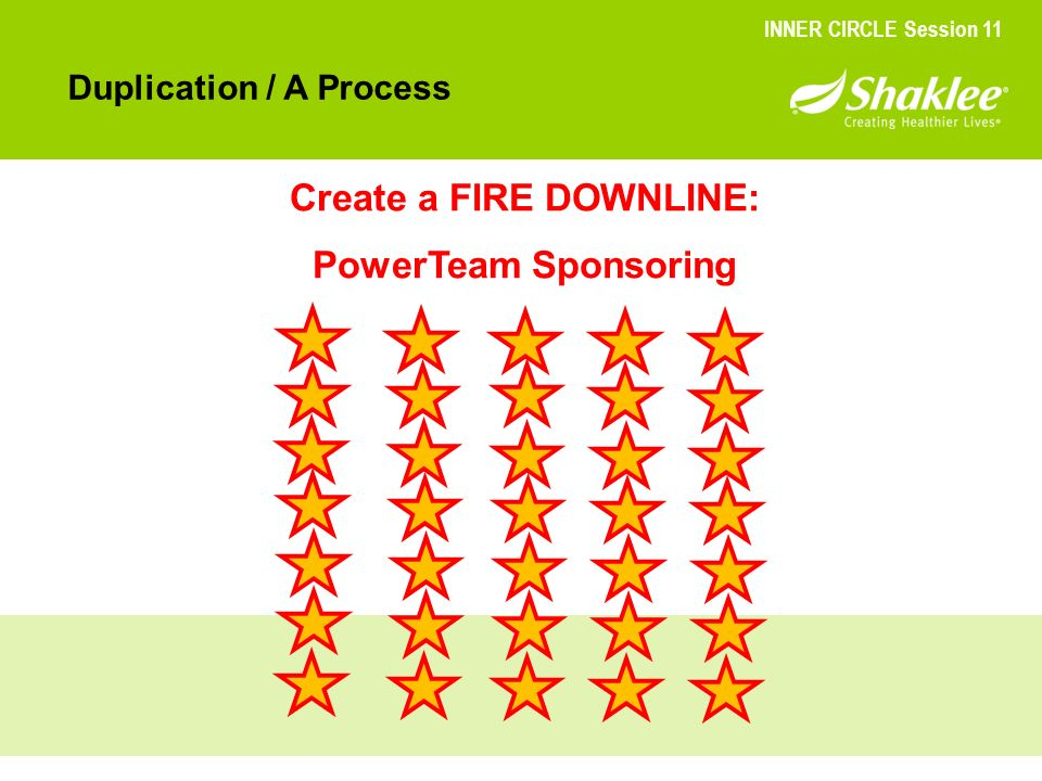 Create a FIRE DOWNLINE: