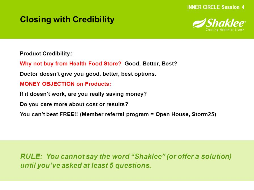 Closing with Credibility