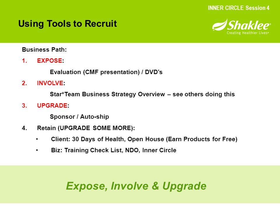 Expose, Involve & Upgrade
