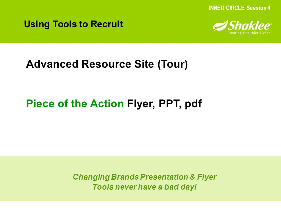 Changing Brands Presentation & Flyer Tools never have a bad day!
