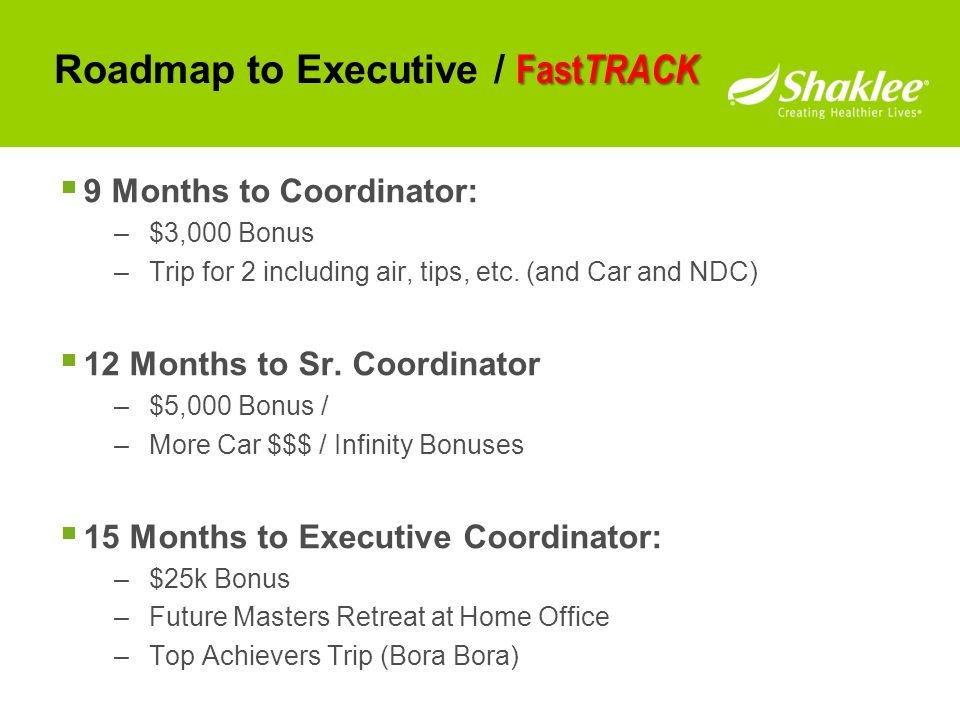 Roadmap to Executive / FastTRACK