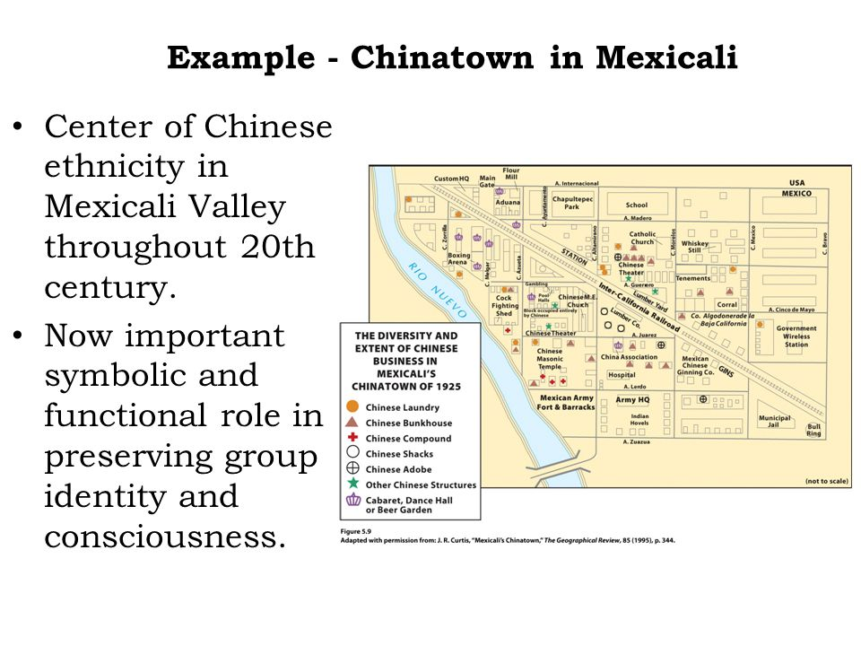Example - Chinatown in Mexicali