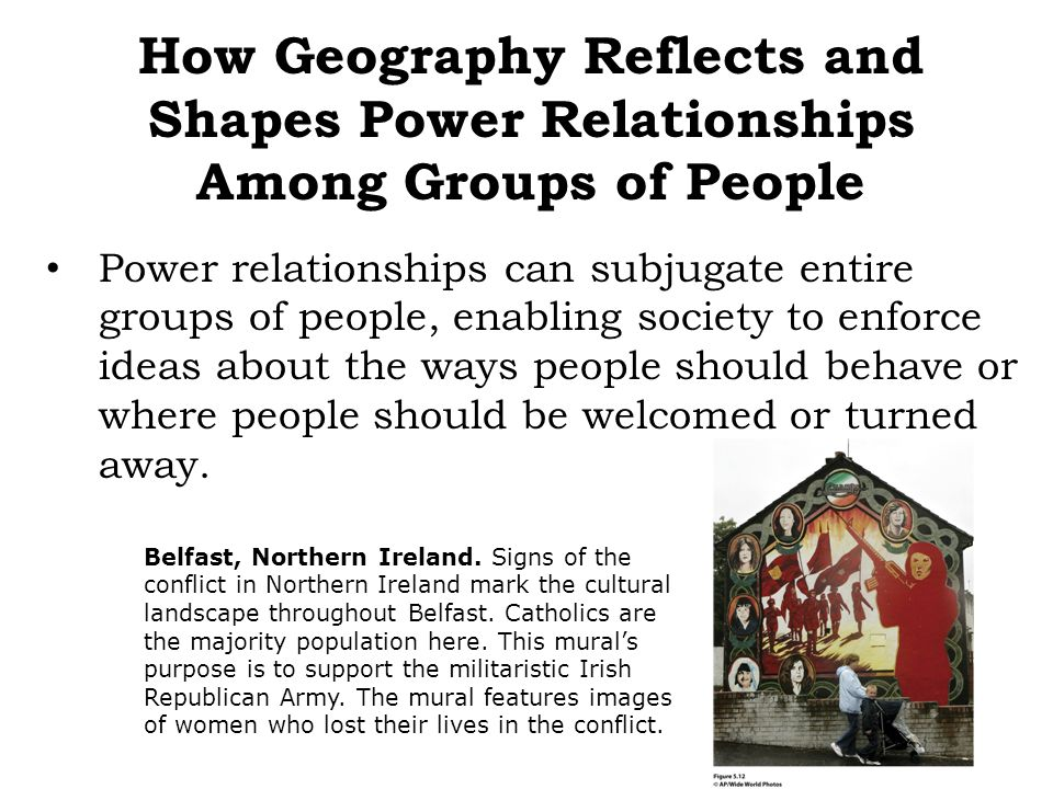 How Geography Reflects and Shapes Power Relationships Among Groups of People