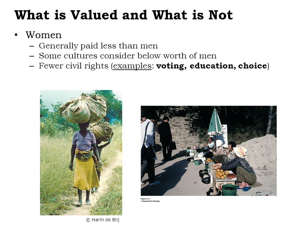 What is Valued and What is Not
