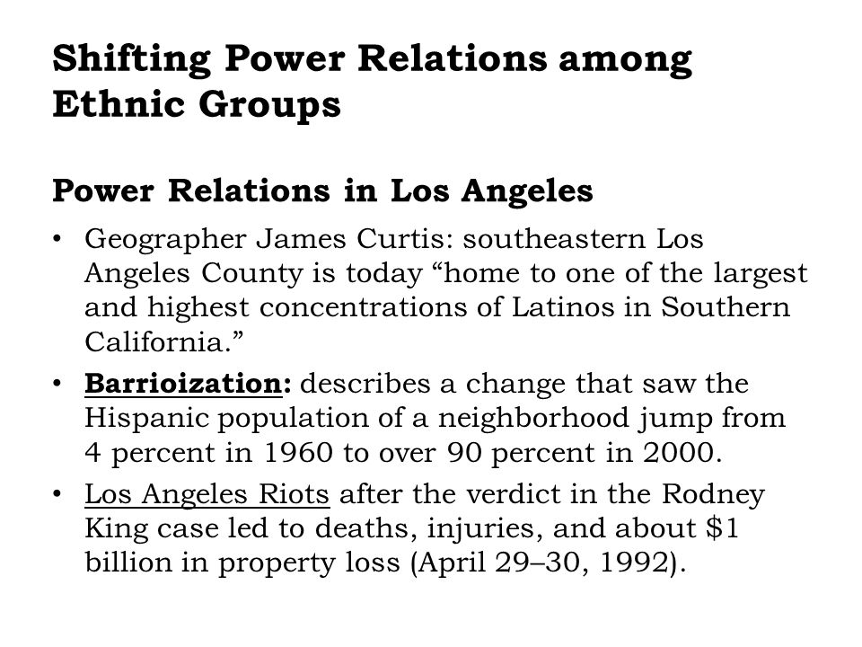 Power Relations in Los Angeles
