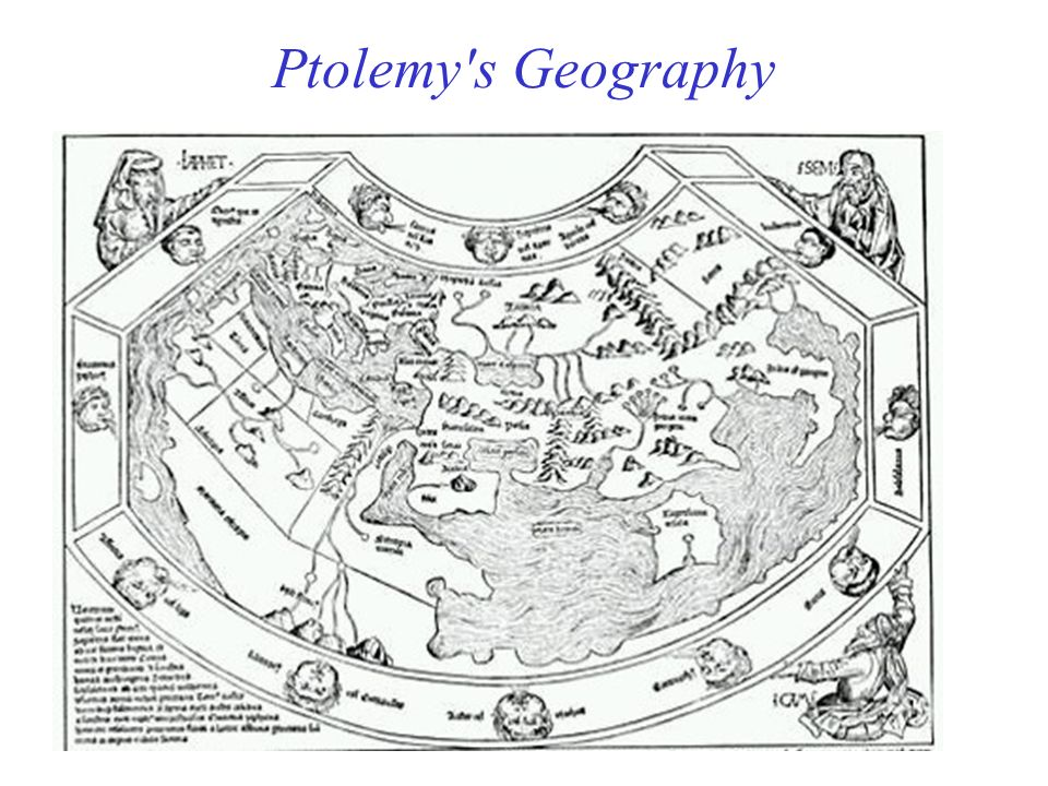 Ptolemy s Geography A Renaissance map based on Ptolemy's Geography.