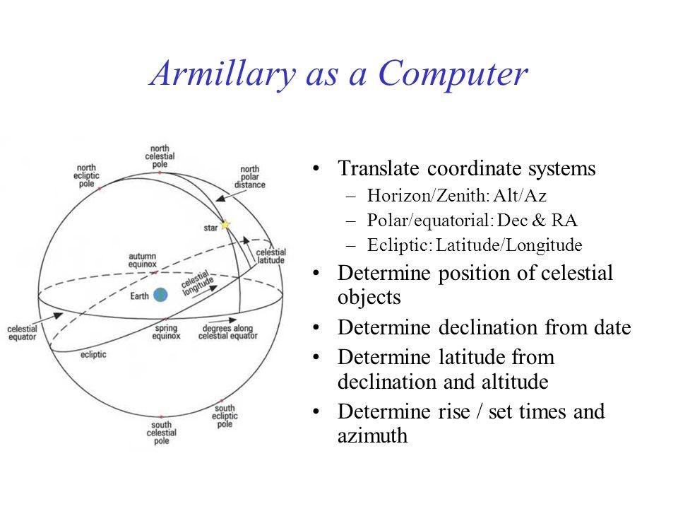 Armillary as a Computer