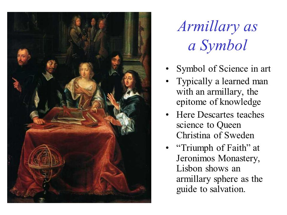 Armillary as a Symbol Symbol of Science in art