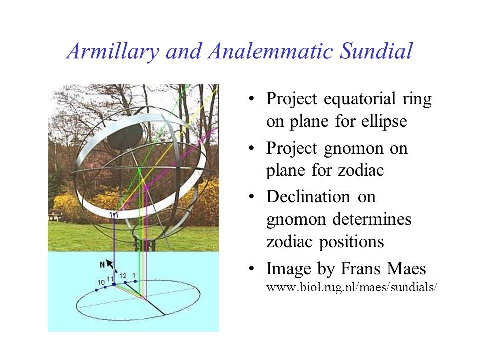Armillary and Analemmatic Sundial