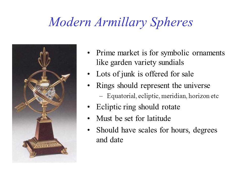 Modern Armillary Spheres