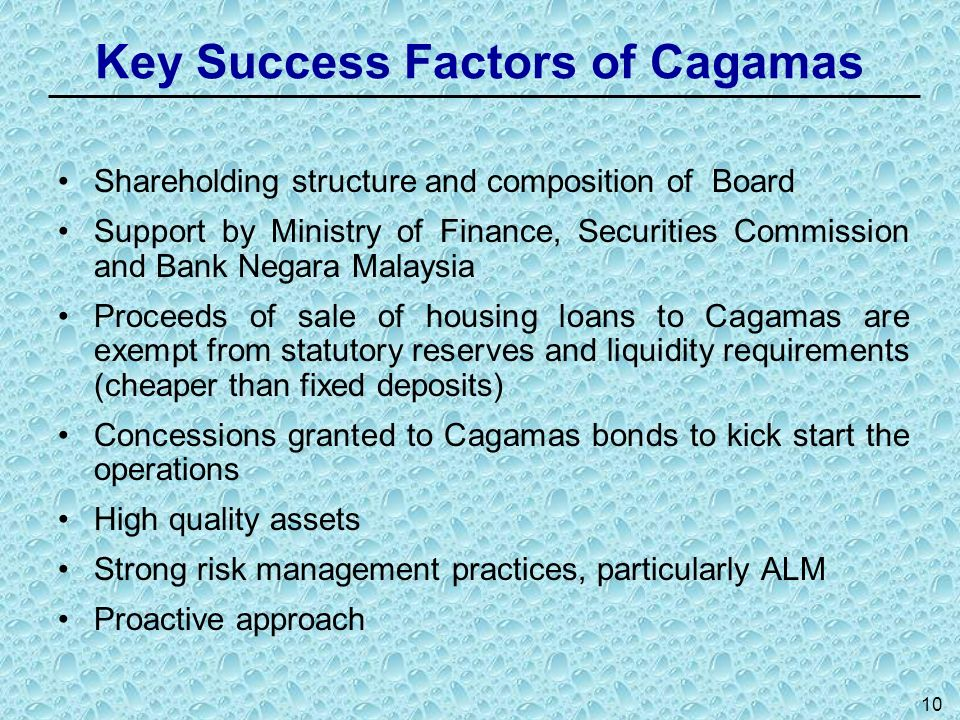 Key Success Factors of Cagamas
