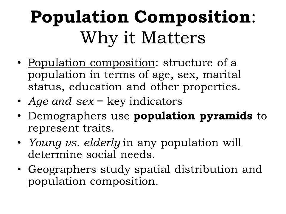 Population Composition: Why it Matters
