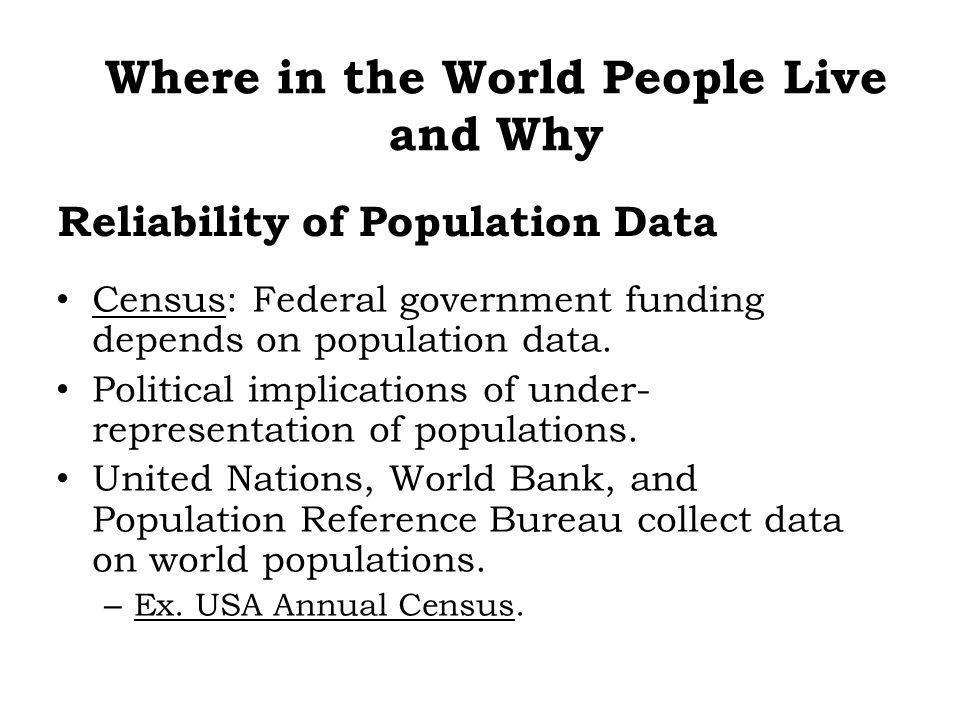 Reliability of Population Data