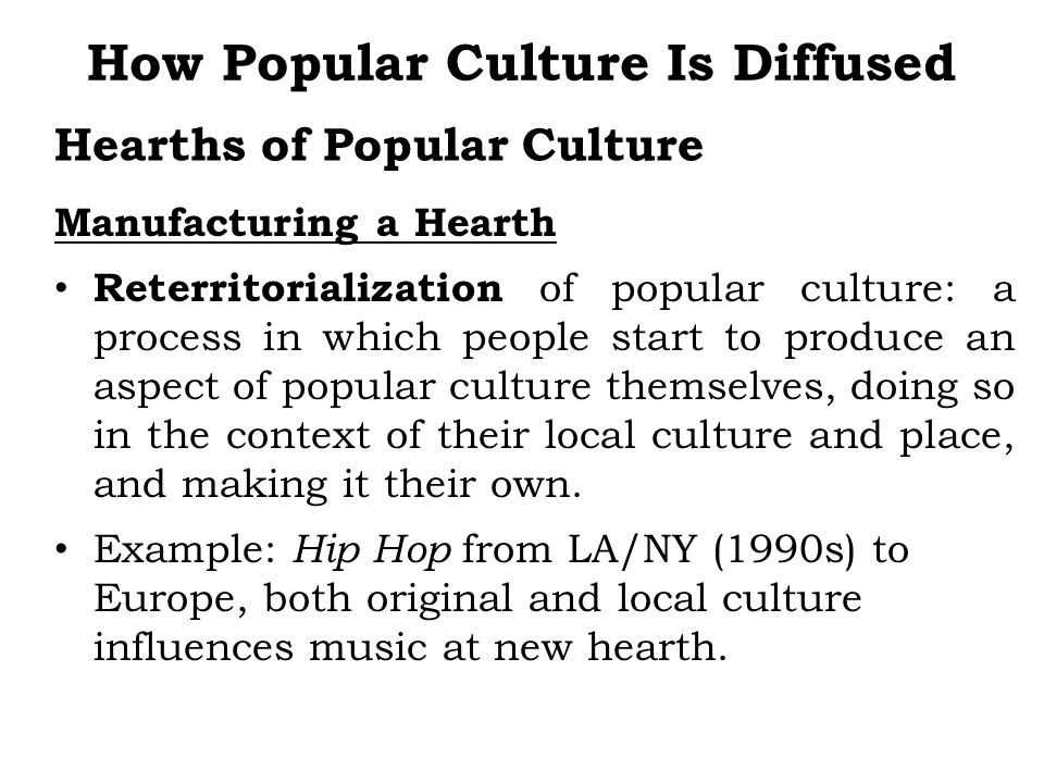 Hearths of Popular Culture