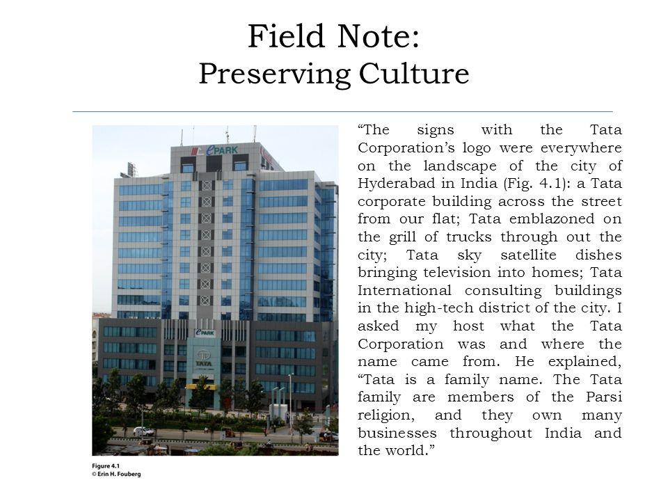 Field Note: Preserving Culture