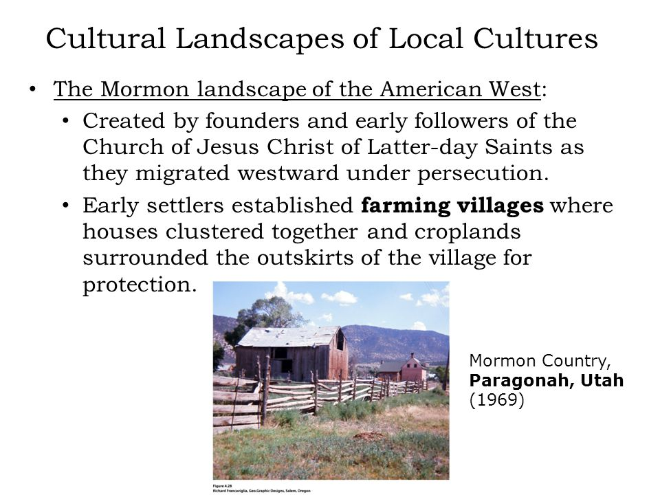 Cultural Landscapes of Local Cultures