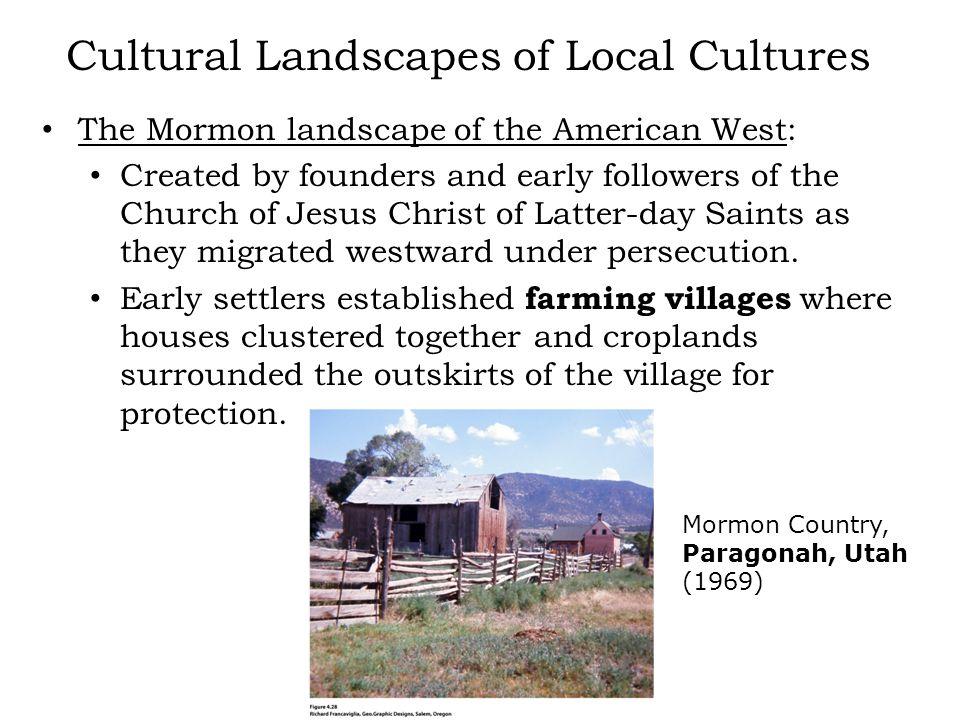 Cultural Landscapes of Local Cultures