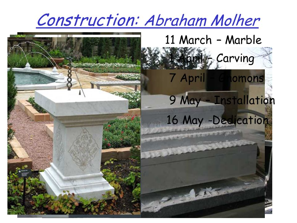 Construction: Abraham Molher 11 March – Marble