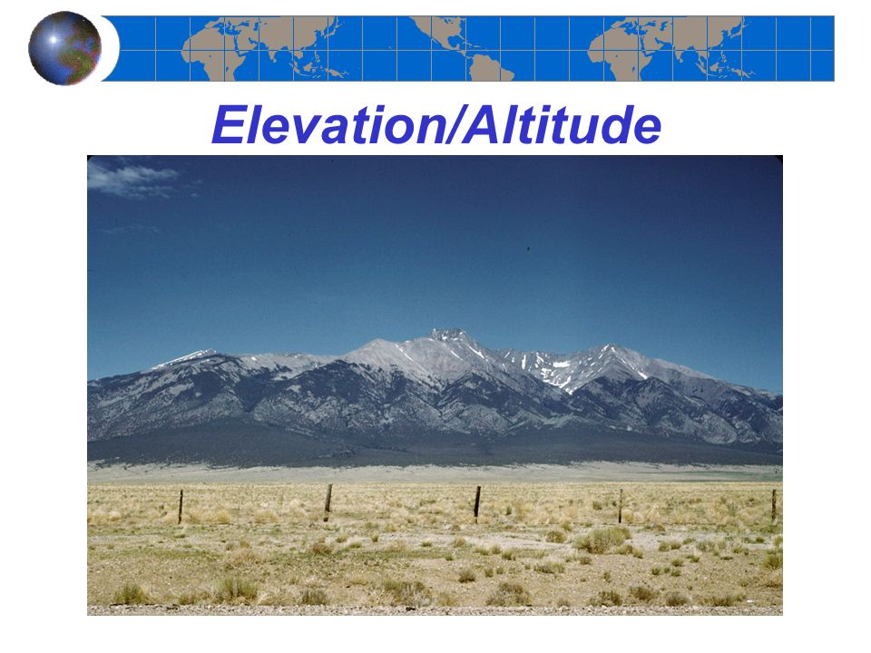 Elevation/Altitude