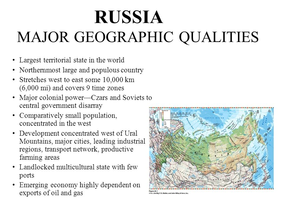 RUSSIA MAJOR GEOGRAPHIC QUALITIES
