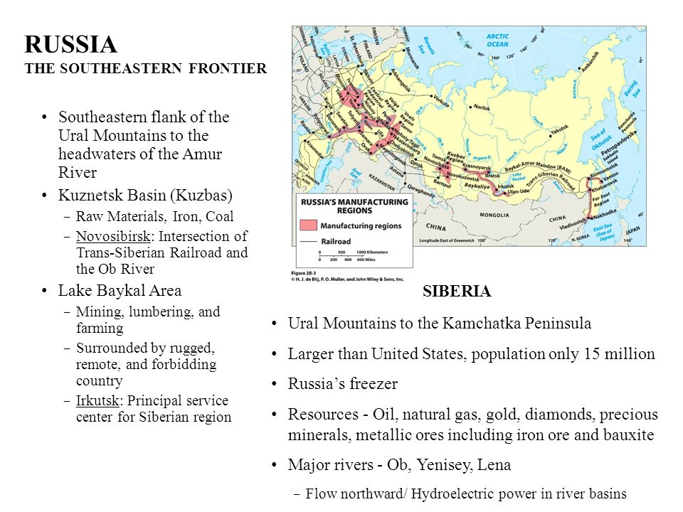 RUSSIA THE SOUTHEASTERN FRONTIER