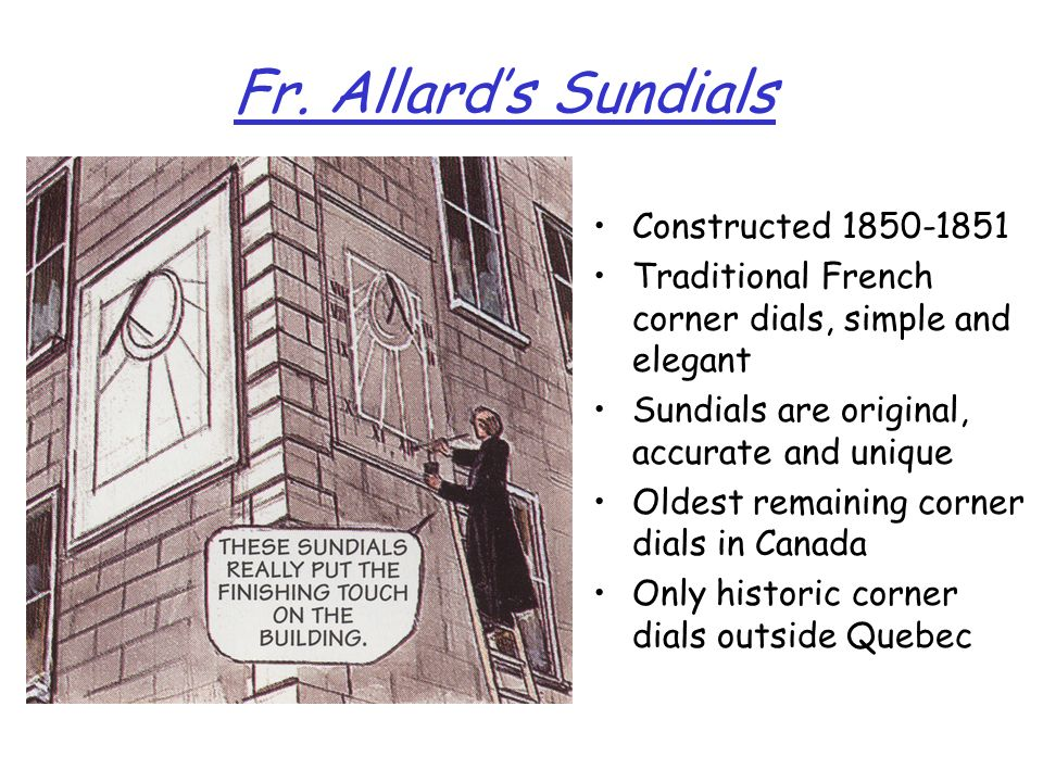 Fr. Allard's Sundials Constructed 1850-1851
