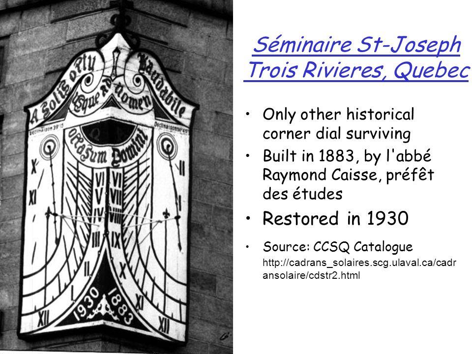 Séminaire St-Joseph Trois Rivieres, Quebec