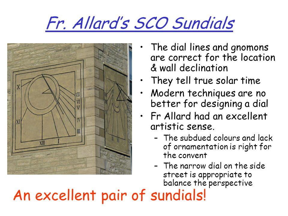 Fr. Allard's SCO Sundials