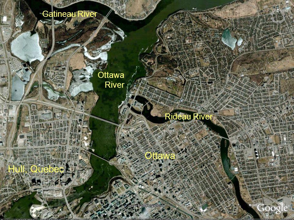 Ottawa Rivers Ottawa Hull, Quebec Gatineau River Ottawa River