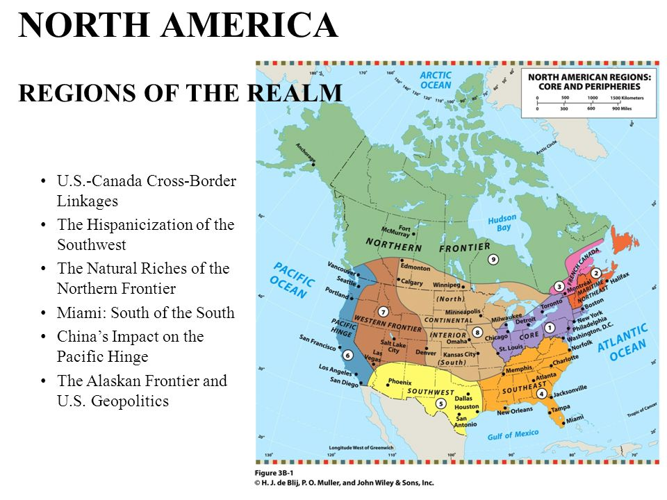 NORTH AMERICA REGIONS OF THE REALM