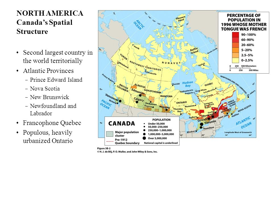 NORTH AMERICA Canada's Spatial Structure